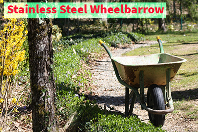 Stainless Steel Wheelbarrow