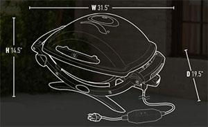 Dimension Weber Q2400