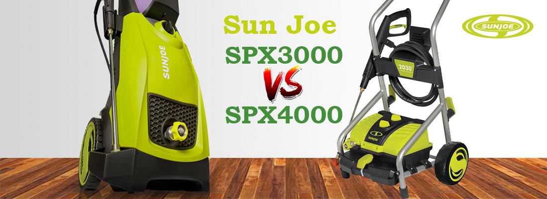 Sun Joe SPX3000 vs Sun Joe SPX4000